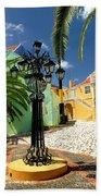 Curacao Colorful Architecture Bath Towel