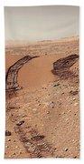 Curiosity Tracks Under The Sun In Mars Bath Towel