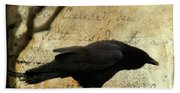 Curious Crow Hand Towel
