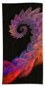 Curly Swirl - Digital Painting Effect Bath Towel
