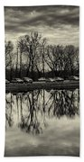 Cushwa Basin C And O Canal Black And White Hand Towel