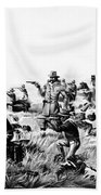 Custer's Last Fight, 1876 Bath Towel