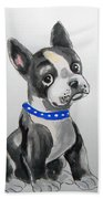 Boston Terrier Wall Art Bath Towel