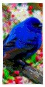Cutout Layer Art Animal Portrait Bird Blue Bath Towel