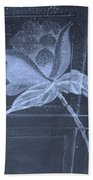 Cyan Negative Wood Flower Bath Towel