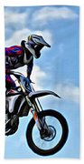 Cycle In The Air Bath Towel