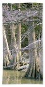 Cypress Trees Bath Towel