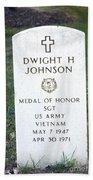 D. H. Johnson - Medal Of Honor Bath Towel