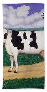 Dad's Prize Milk Cow Bath Towel