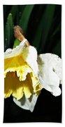 Daffodil In The Rain 2 Bath Towel