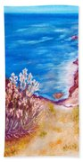 Daffodils At The Beach Hand Towel