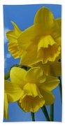 Daffodils In The Sky Bath Towel