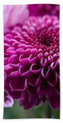 Dahlia And Mums Bath Towel