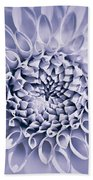 Dahlia Flower Star Burst Purple Bath Towel