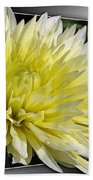 Dahlia Named Canary Fubuki Hand Towel