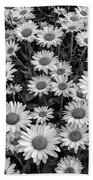 Daisy Cluster Vermont Flowers In Black And White Bath Towel