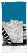 Dallas Skyline City Hall - Steel Bath Towel