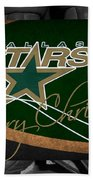 Dallas Stars Christmas Bath Towel