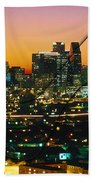 Dallas Texas Skyline In A High Heel Pump Bath Towel
