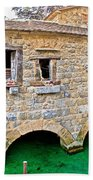 Dalmatian Village Traditional Stone Watermill Bath Towel