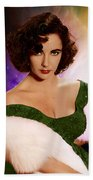 Dame Elizabeth Rosemond 'liz' Taylor - Featured In 'comfortable Art' Group Bath Towel