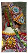 Dancer In Native Costume Peru Bath Towel