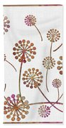 Dandelion Seeds  Bath Towel