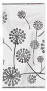 Dandelion Seeds Grey Bath Towel