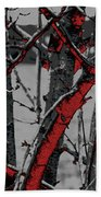 Dark Branches Bath Towel