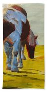 Dartmoor Ponies Bath Towel