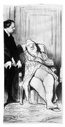 Daumier: Doctor Cartoon Bath Towel