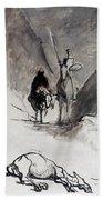 Daumier: Don Quixote Bath Towel