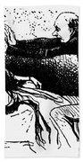 Daumier: The Hypnotist Bath Towel