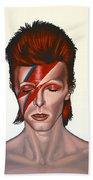 David Bowie Aladdin Sane Hand Towel by Paul Meijering
