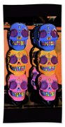 Day Of The Dead Ink Bath Towel