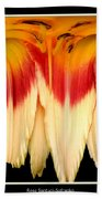 Daylily Flower Abstract 2 Bath Towel