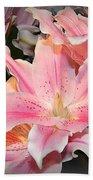 Pink Daylily In Bloom Bath Towel