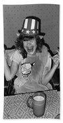Debbie C. Celebrating July 4th Lincoln Gardens Tucson Arizona 1990 Bath Towel