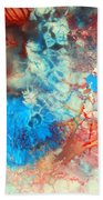 Decalcomaniac Colorfield Abstraction Without Number Bath Towel
