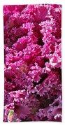 Decorative Fancy Pink Kale Bath Towel