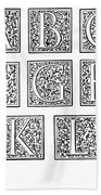 Decorative Initials, C1600 Bath Towel