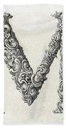 Decorative Letter Type M 1650 Bath Towel