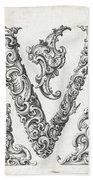 Decorative Letter Type V 1650 Bath Towel
