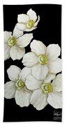 Decorative White Floral Flowers Art Original Chic Painting Madart Studios Hand Towel