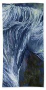Deep Blue Wild Horse Bath Towel