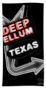 Deep Ellum In Red Bath Towel