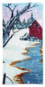 Deer At The Grist Mill Bath Towel
