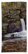 Deer Leap Falls Bath Towel