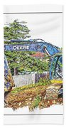 Deere For Hire2 - Excavator - Digger Bath Towel