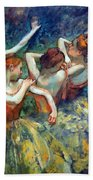 Degas' Four Dancers Up Close Bath Towel